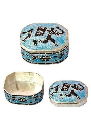 Meenakari Elephant Box