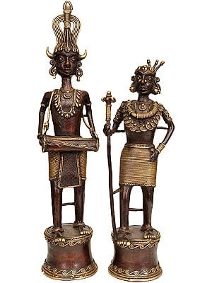 Tribal Couple: Brass-Casts from Bastar