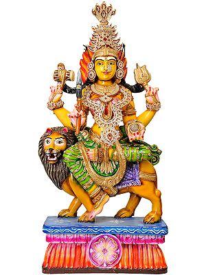 Large Size Goddess Durga in Shringar