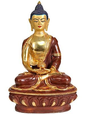 Seated Buddha, His Eyes Unshut