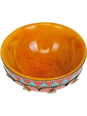 Tibetan Buddhist Ritual Bowl (Amber Dust)