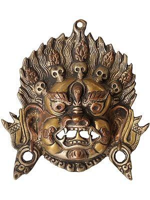 Tibetan Buddhist Mahakala Mask (Wall Hanging)