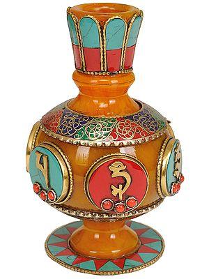 Tibetan Buddhist Sacred Buddhist Vase