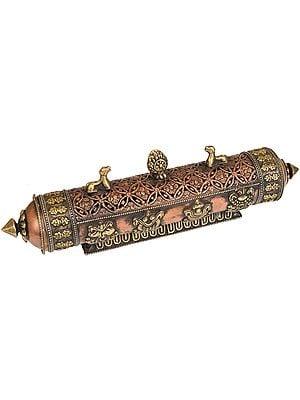 Tibetan Buddhist Ashtamangala Incense Burner