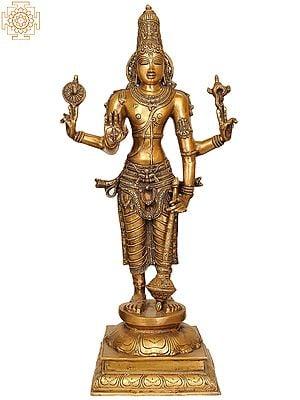 Large Size Four-Armed Standing Vishnu