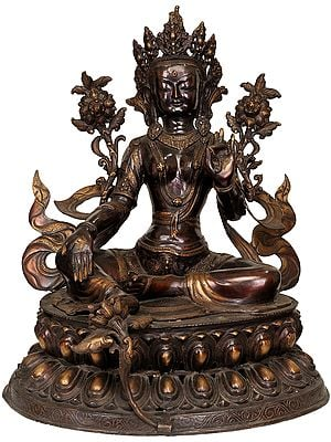 Large Size Green Tara (Tibetan Buddhist Deity)