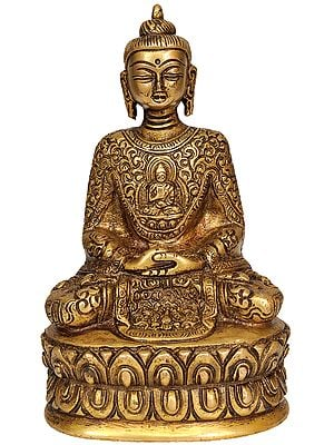 Dhyani Buddha with Beautiful Decorated Robe
