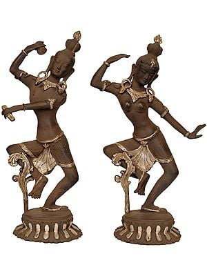 Dancing Shiva and Parvati