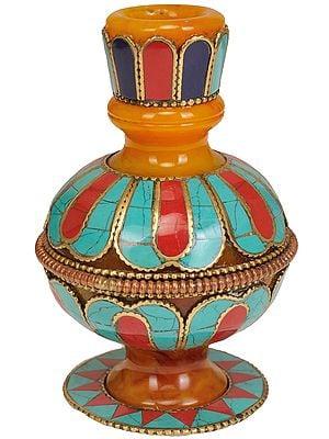 Tibetan Buddhist Ritual Vase