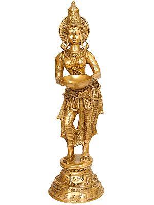 Deeplakshmi - Auspicious Lakshmi with Lamp