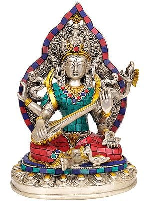 Goddess Saraswati (Inlay Statue)