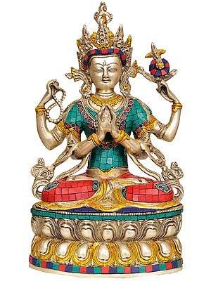 Tibetan Buddhist Deity- Chenrezig Shadakshari Lokeshvara