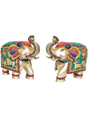 Pair of Elephant (Inlay Statue)