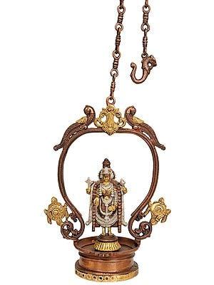 Lord Venkateshvara with Chakra and Conch
