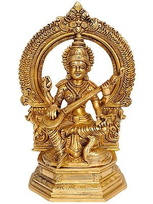 Goddess Saraswati Playing Veena