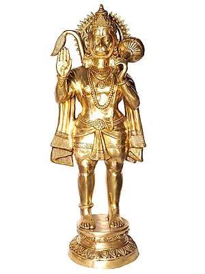 Large Size Hanuman in Abhaya-mudra