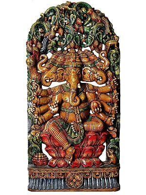 Large Size Panchamukha Ganesha (Five-Headed Ganapati)