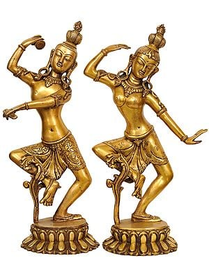 Dancing Shiva and Parvati (Pair)