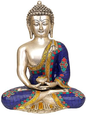Inlay Statue of Dhyani Buddha