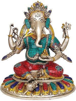 Bhagawan Ganesha (An Inlay Statue)