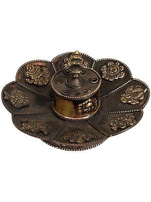 Tibetan Buddhist Ashtamangala Incense Stick Holder