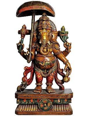 Ganesha with Parasol