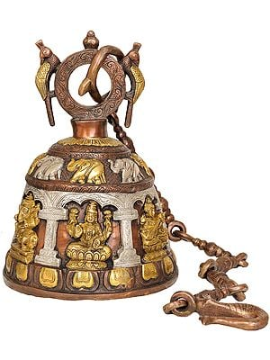 Ganesha Lakshmi and Saraswati (Temple Hanging Bell)