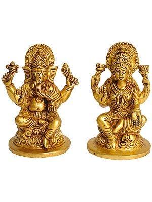 Pair of Ganesha and Lakshmi