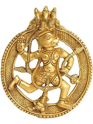 Lord Hanuman Under Serpent Hanging Plate
