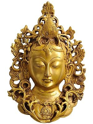 Tibetan Buddhist Goddess Tara Mask (Wall Hanging)