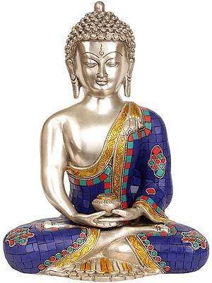 Inlay Statue of Dhyani Buddha