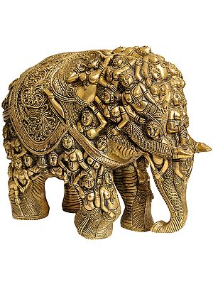 An Elephant Made with Ladies Figures