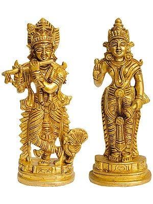 Pair of Krishna and Rukmani