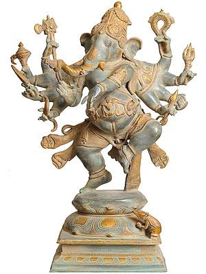 Large Size Ashtabhuja-dhari Yuddha Ganesha (Ganesha the Spiritual Warrior)