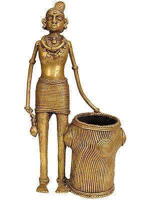 Tribal Lady with Long Basket