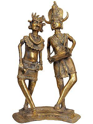 Folk Entertainment - Tribal Couple Dancing