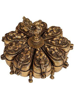 Baby Krishna Ritual Box with Lids