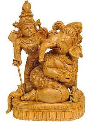 Bala Ganesha with His Brother Karttikeya