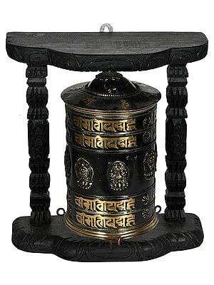 Tibetan Buddhist Enshrined Prayer Wheel (Made in Nepal)
