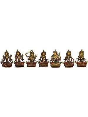 Set of Seven Tibetan Buddhist Deities