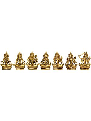 Set of Seven Tibetan Buddhist Deities