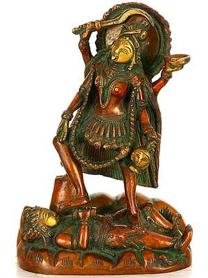 Chaturbhujadhari Devi Kali Wields The Mace