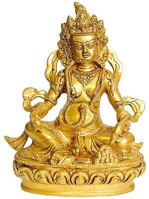 (Tibetan Buddhist Deity) Vaishravana with Jewel Offering