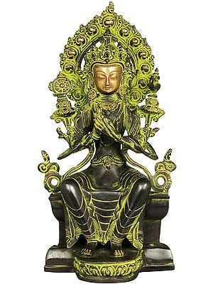 Tibetan Buddhist Maitreya Buddha - The Only Deity Seated with His Legs Down