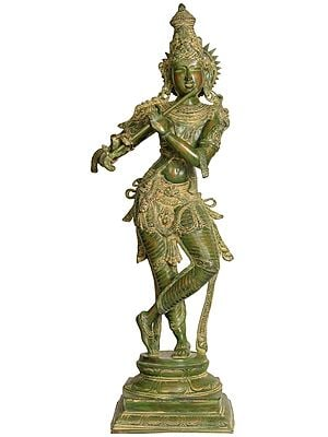 Large Size Lord Krishna Playing Flute