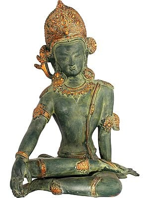 Seated Indra, As If Listening Intently To His Devotees