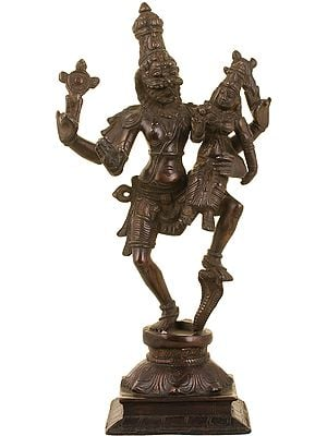 Narasimha, With Lakshmi Balanced On His Limb