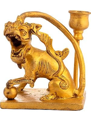 Roaring Lion Candlestand