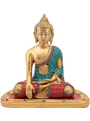 Shakyamuni, The Ashtamangala On His Robes