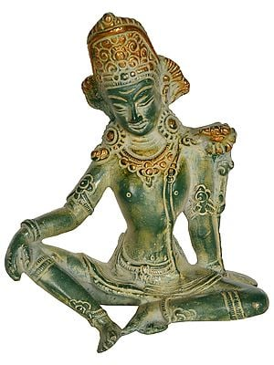 Seated Indra, The Head Lowered